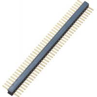 Round Pin Header 1*40P Straight DIP height 2.0mm Long needle 8.1mm 1.27 Mm Pitch Connector Manufactures