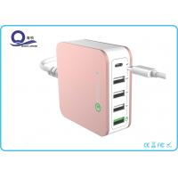 40W 5 Ports Type C USB Desktop Charging Station Quick Charger 3.0 with ETLCertified Manufactures
