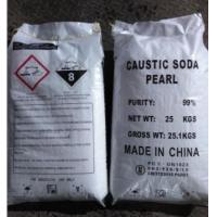 Industrial Sodium Hydroxide Caustic Soda Pearls 99% CAS 1310-73-2 For Bleach Manufactures