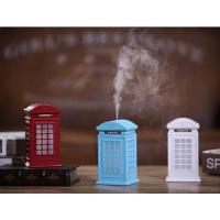 China Creative Vintage British Style Phone Booth Humidifier 300ml USB LED Cool Mist Humidifiers on sale