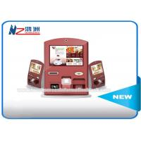 Free Standing Self Ordering Kiosk With Banknote Acceptor / Credit Card Reader Manufactures