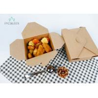 China Fried Chicken Kraft Paper Takeaway Boxes Quadrid Lid Economical Packaging on sale