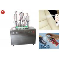 China Semi Automatic Aerosol Spray Filling Machine For Refilling Upholstery Aerosols on sale
