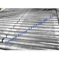 Margin Hole Free Area Reserved For Longitudinal Welded Perforated Metal Tube / SS304 316 Manufactures