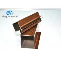Wood Grain / Mill Finished Aluminum Extrusion Profile For Decoration , Alloy 6063-T5 Manufactures