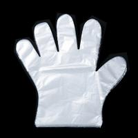 China Waterproof Plastic Disposable PE Gloves For Wax Cleaning Using 100 Pcs / Box on sale