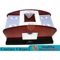 Electric Wood Card Shuffler / Casino Card Shuffler With Power Batteries Manufactures