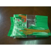 Green Side Gusseted Food Pouch Packaging for Biscuit PET / CPP Manufactures