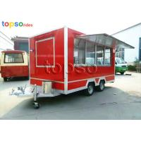 Street Square Mobile Food Trailer  Stainle Steel Food Vending Carts Various Colors Manufactures