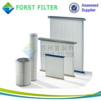 China FORST Cylinder Air Cartridge Polyester Air Filter Material Pleated Air Filter Supplier wholesale