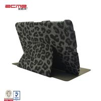 China 360 fold flip S-view support stand leopard PU leather folio cases for Apple ipad mini, on sale