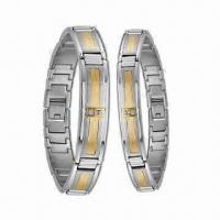 Stainless Steel Bracelets/Couple Bangles, Charming Gift, OEM or ODM Orders Welcomed Manufactures