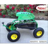 China Rolling Garden Work Seat Cart/Wheel Barrow with Steering on sale