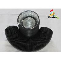 Quality Stretchable Round 6 Inch Flexible Duct PVC Aluminum Foil With Single Layer for sale