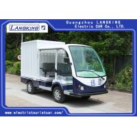 Balck Seats Electric Freight Car / Electric Truck Van Max.Speed 28km/H Manufactures