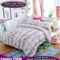 Birds and Plants 100% Polyester Bedding Sets Duvet Covers Pillowcases Bed Sheets Manufactures
