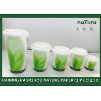 China PLA Coated Paper Tea Cups Various Design With Food Grade Ink Printing on sale