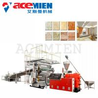 Low Noise PVC Imitated Artificial Marble Making Machine 250 Kw With T Type Mould Manufactures