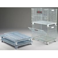 Heavy Duty Industrial Wire Containers Customized Colors Wire Mesh Pallet Cages Manufactures