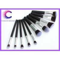 Soft  hair 10 piece makeup brush sets synthetic essential kit with  Personalized custom logo Manufactures