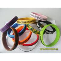 Multi-colors Hologram Silicone Wrist Bracelets, Energy Armor Bracelet For Boys / Girls Manufactures