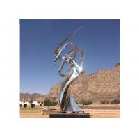 Buy cheap Modern Decorative Outdoor Mirror Polished Stainless Steel Sculpture Long Life from wholesalers