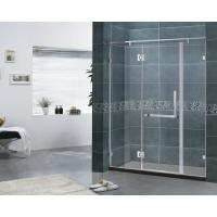 Customized FramelessHingedShowerDoor 6MM Clear Glass With 180 Degree Stainless Hinge Manufactures
