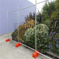 Australia Standard Galvanized Temporary Mesh Fence Movable With PVC Feet Manufactures