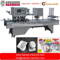 Automatical Filling And Sealing Plastic Cup Making Machine 220V 380V 50 / 60Hz Manufactures