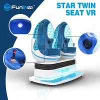 Blue Color Coin Operated Two Eggs 9D VR Cinema / VR Helmet Game Simulator For VR Zone Playground Arcade Manufactures