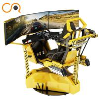 Quality Realistic Crazy Car VR Racing Simulator With Electric Cylinder System for sale