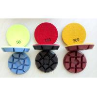 China 3 Inch 75mm Colourful Concrete Floor Polishing Pads With 11mm Thickness on sale