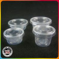 Chinese Disposable PP Plastic Portion Cup of Various Size with PET Plastic Lids Manufactures