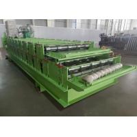 0.3-0.8mm Thickness Roll Former China Double Layer Roof Panel Roll Forming Machine Manufactures