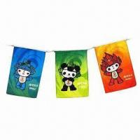 Bunting Flags, Made of Polyester/Paper/PE Materials Manufactures