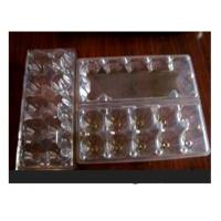 10 Cavities Clear Plastic Egg Cartons , Disposable Food Containers Manufactures
