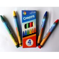 4colors wax crayon with promotion packing ;color box;non toxic;safety for kids Manufactures