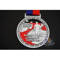 Buy cheap Races Running Riding Dancing Sports Events Metal Award Medals Zinc Alloy Material With Ribbon from wholesalers