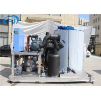 10 Tons Industrial Flake Ice Making Machine R22 / R404A Refrigerant New Condition Manufactures