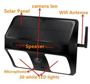 1080P PIR Motion LED Light Hidden IP Camera / APP Live Remote Control Light Camera Manufactures
