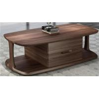 Quality 2017 New Walnut Wood Case Good Furniture Design Living room Coffee table& Tea table with Storage side Drawers for sale