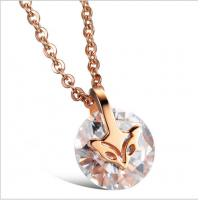 Drjobson Jewelry rose gold titanium steel necklace-N01 Manufactures