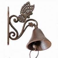 Metal Crafts Doorbell with Butterfly Design, Available in Antique Brown Manufactures