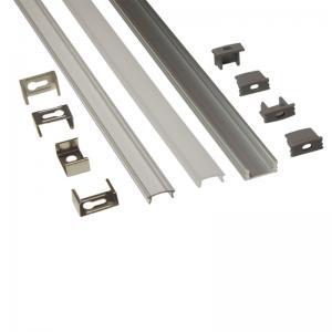 Silver Matt Square / Round Anodized Aluminium LED Profiles For LED Frame Manufactures