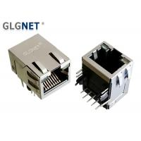 Buy cheap Female LAN Connector RJ45 , Tab Up Side Entry Magnetic RJ45 Modular Jack from wholesalers