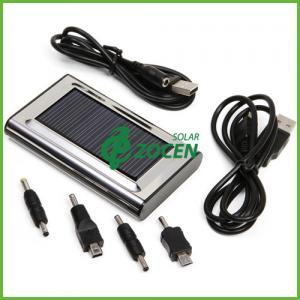 Black / White 5.5V 5000MAH Mobile Portable Solar Phone Charger CE ROHS FCC Manufactures