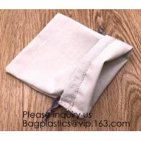 Packs Cotton Muslin Bags with Drawstring, Natural Color,handle cotton eco