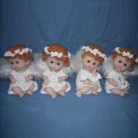 Porcelain/Polyresin Angel Painting with Decal Design, Customized Designs and Sizes are Welcome Manufactures