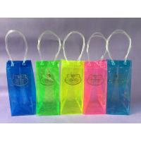 China Eco Friendly Promotional PVC Wine Bag , Colorful Printing PVC Wine Cooler Bag on sale