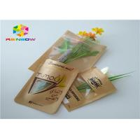 Clear Window Customized Paper Bags Recycled Brown Kraft Paper For Shopping